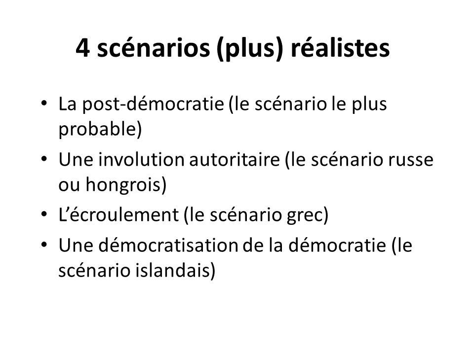 4 scénarios (plus) réalistes