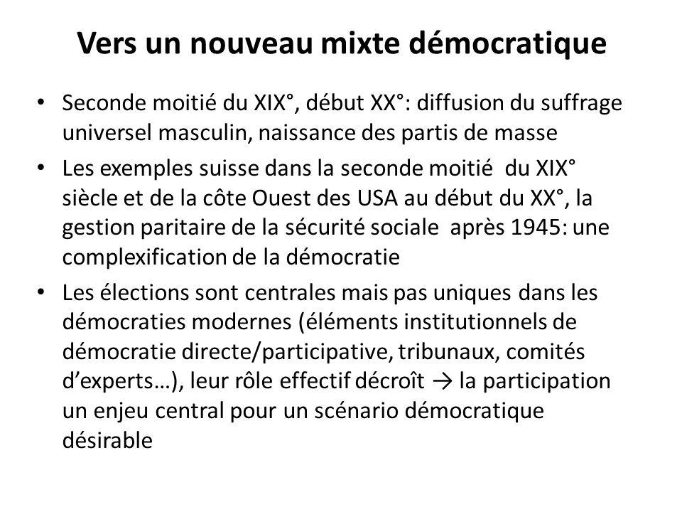 Vers un nouveau mixte démocratique