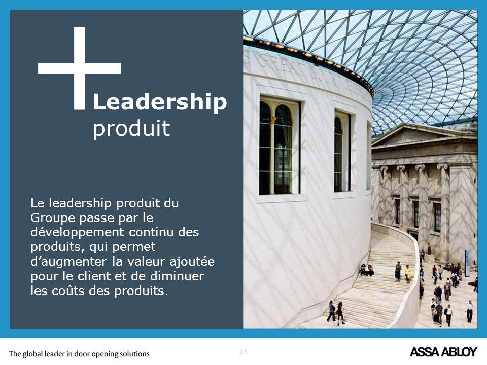 + Leadership produit.