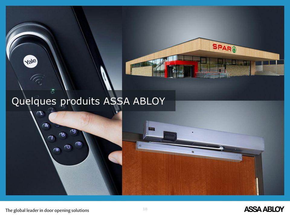 Quelques produits ASSA ABLOY