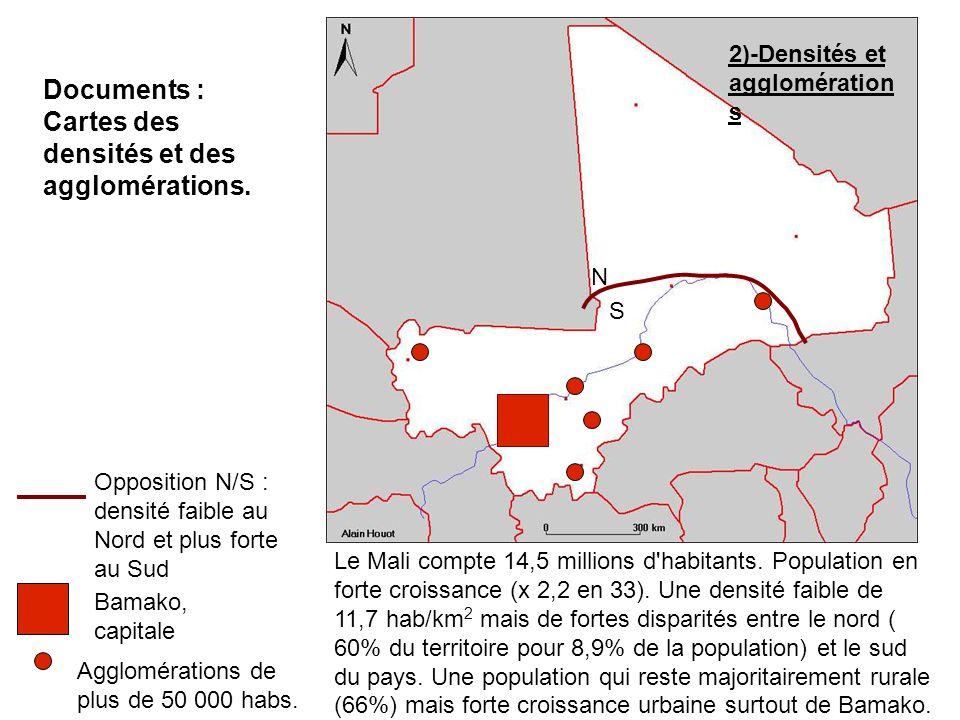 Cartes des densités et des agglomérations.