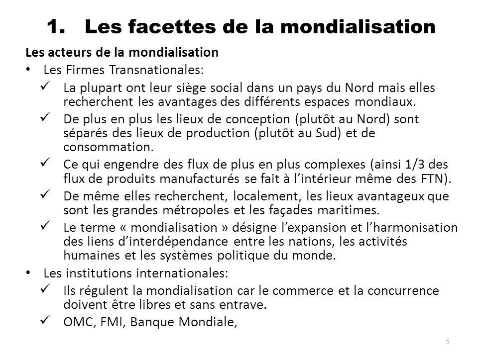 1. Les facettes de la mondialisation