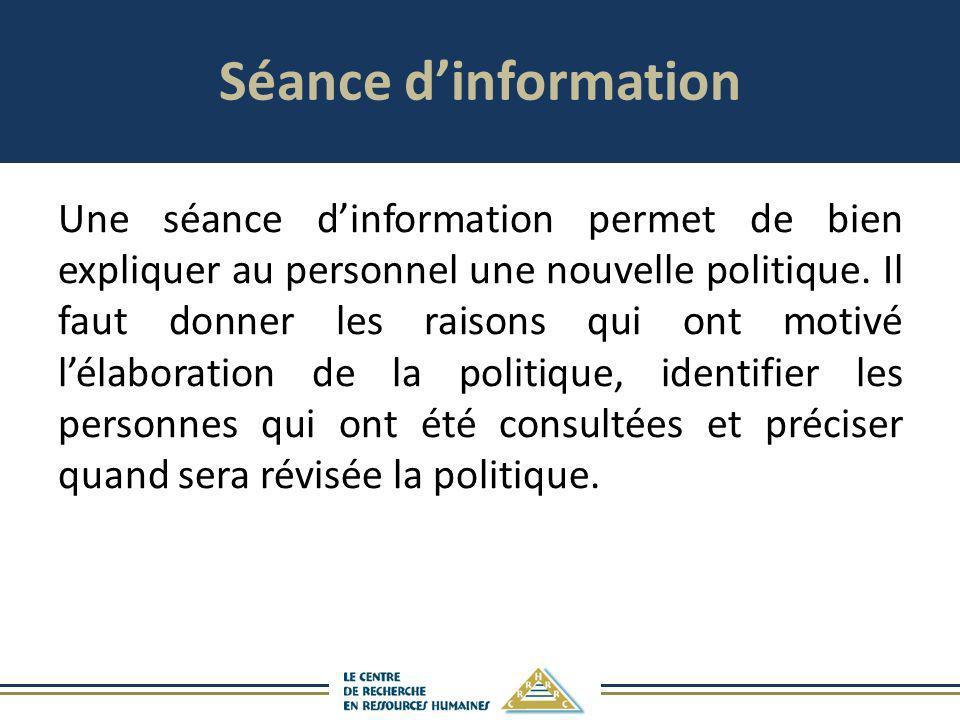 Séance d'information