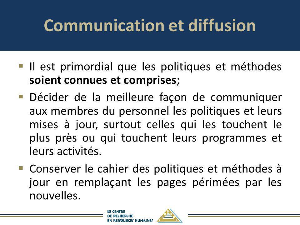 Communication et diffusion