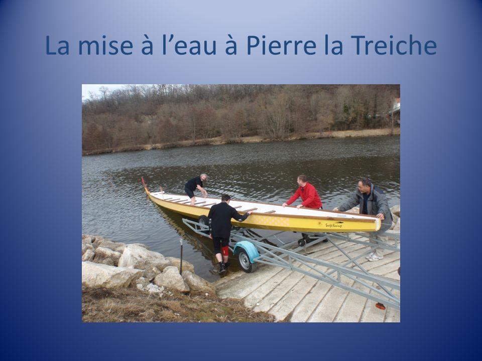 La mise à l'eau à Pierre la Treiche