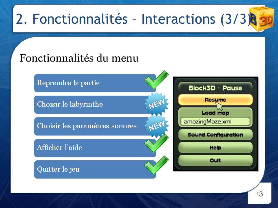 2. Fonctionnalités – Mode distribué (1/2)