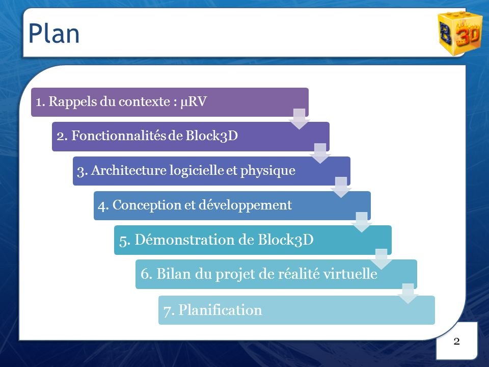 Plan 5. Démonstration de Block3D