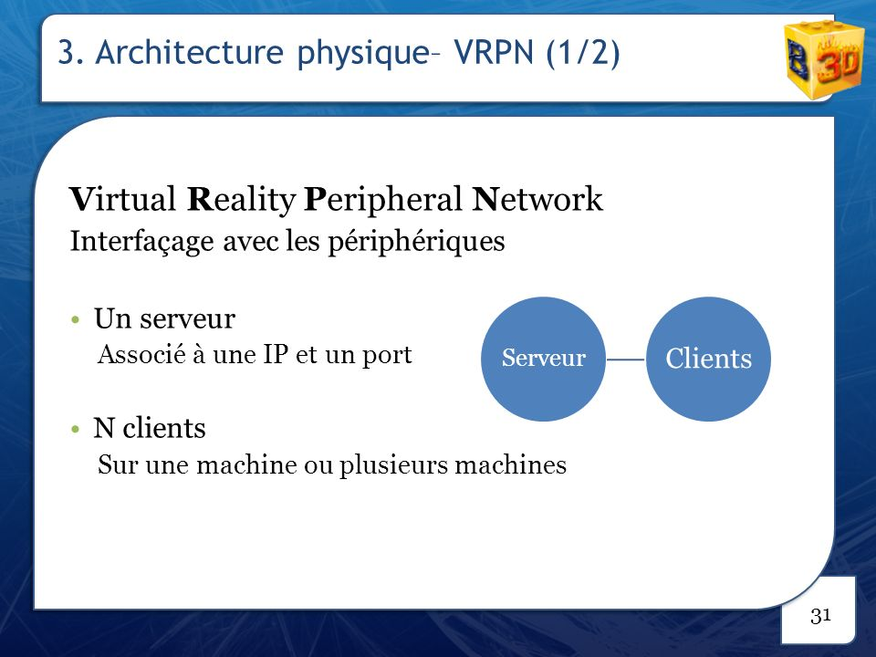 3. Architecture physique– VRPN (2/2)