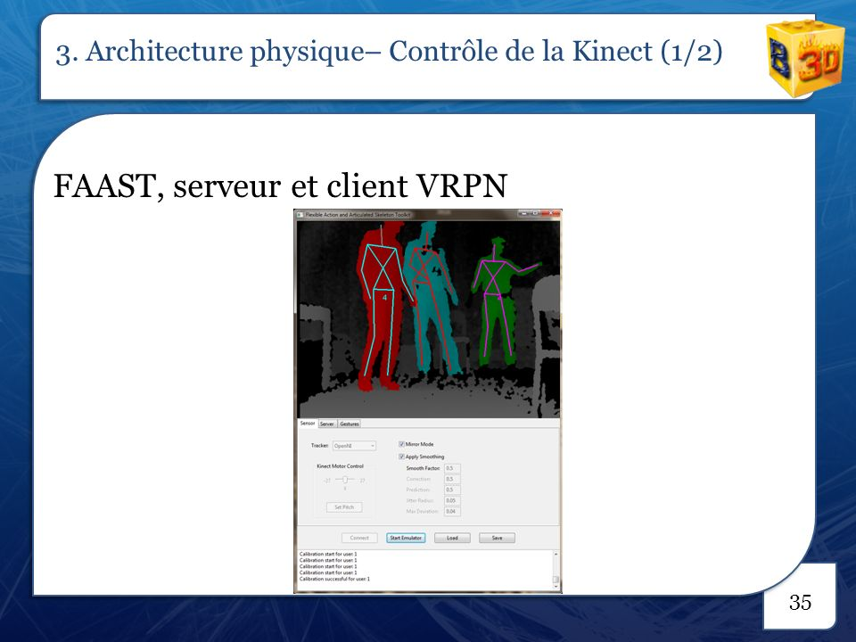 FAAST, serveur et client VRPN