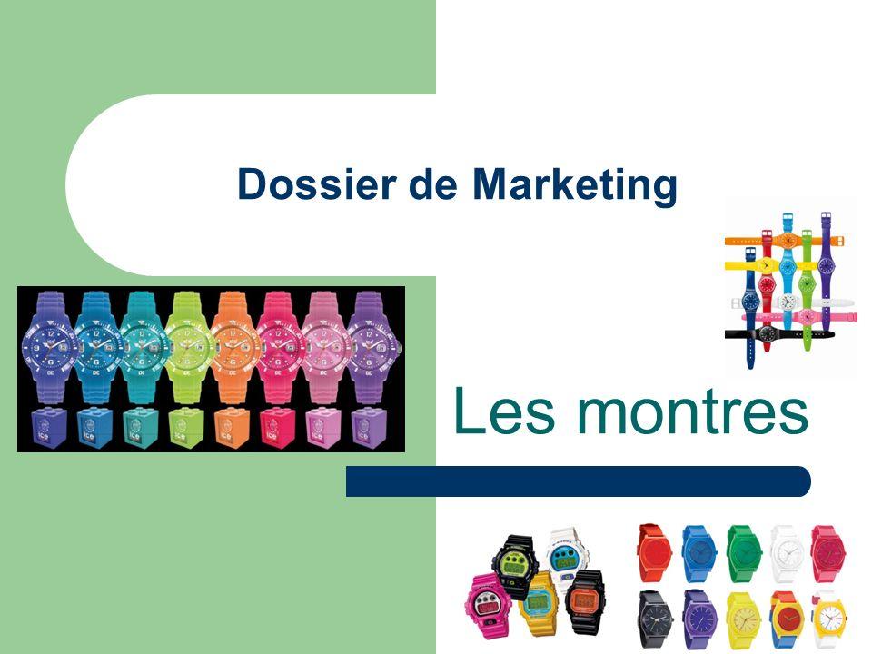 Dossier de Marketing Les montres