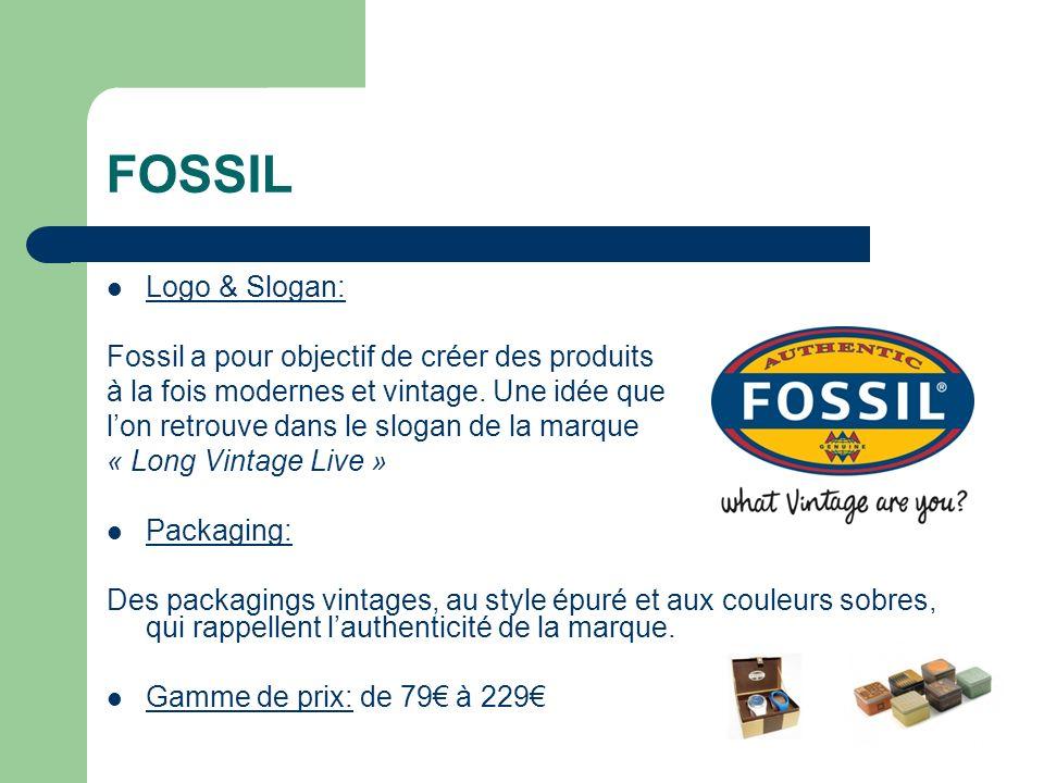 FOSSIL Logo & Slogan: Fossil a pour objectif de créer des produits