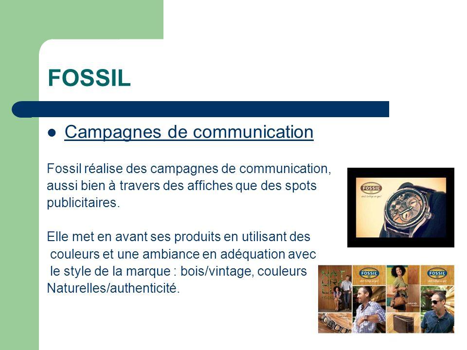 FOSSIL Campagnes de communication