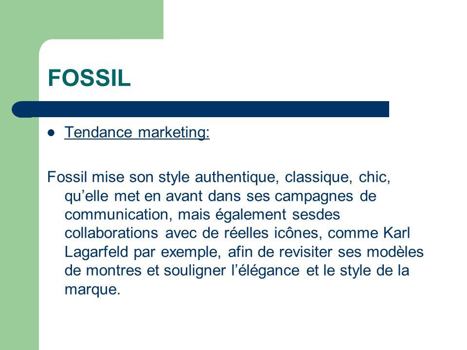 FOSSIL Tendance marketing: