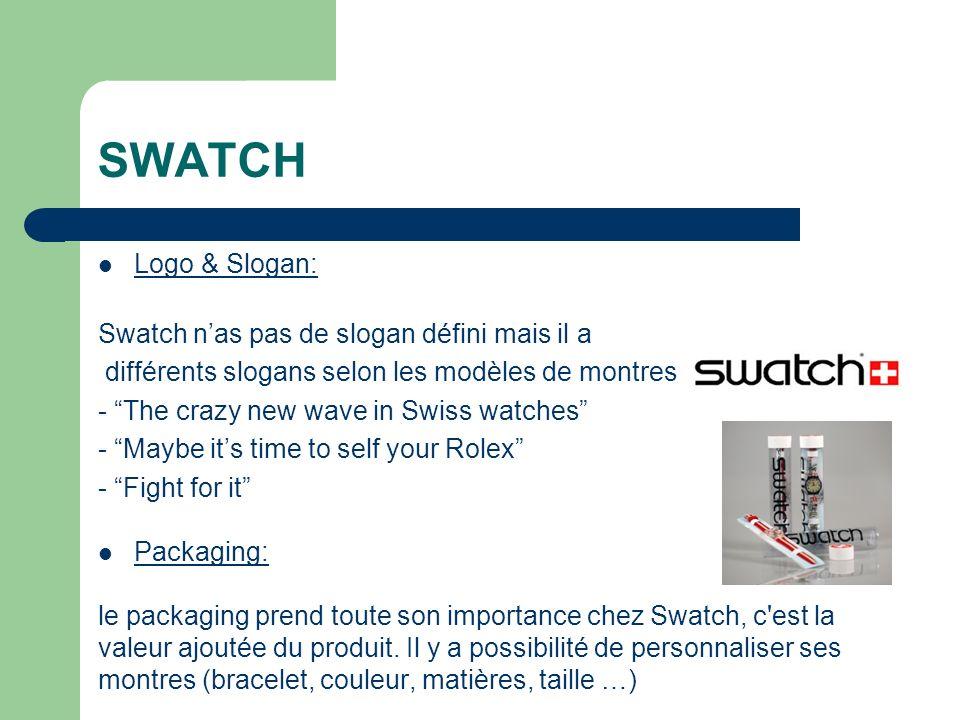 SWATCH Logo & Slogan: Swatch n'as pas de slogan défini mais il a