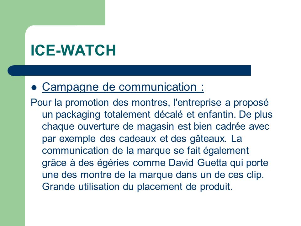ICE-WATCH Campagne de communication :