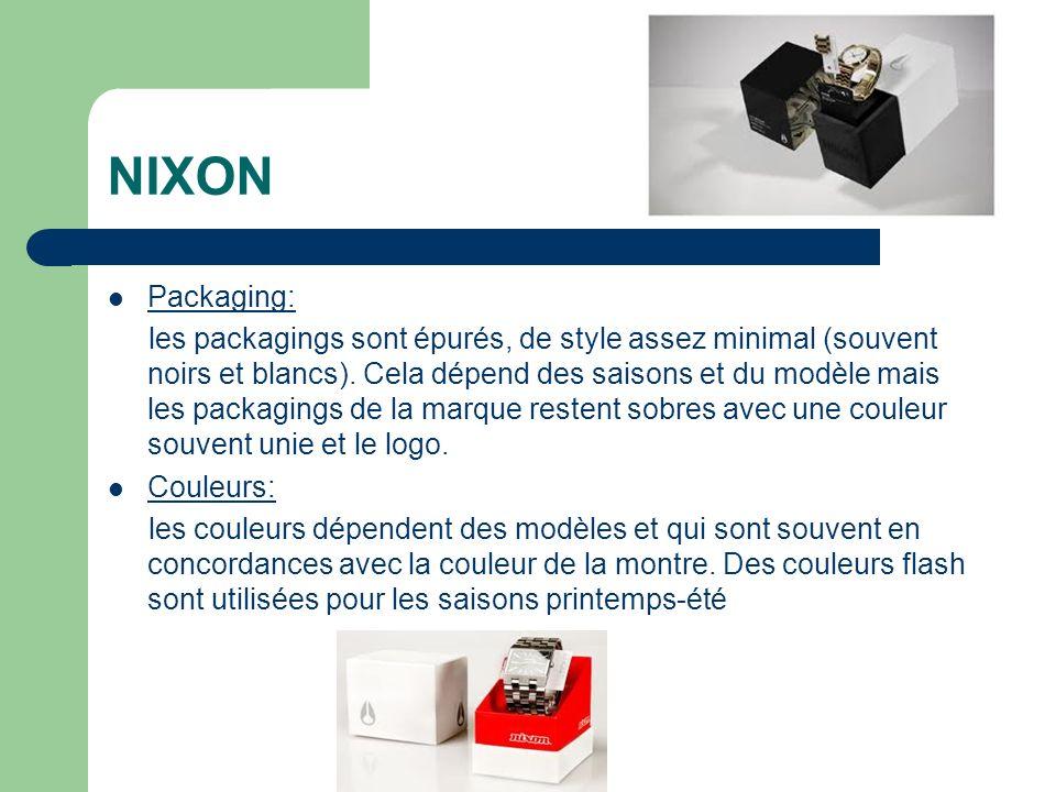 NIXON Packaging: