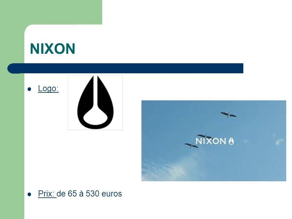 NIXON Logo: Prix: de 65 à 530 euros