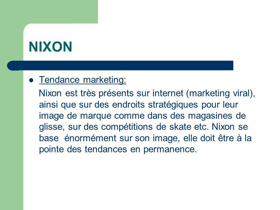 NIXON Tendance marketing:
