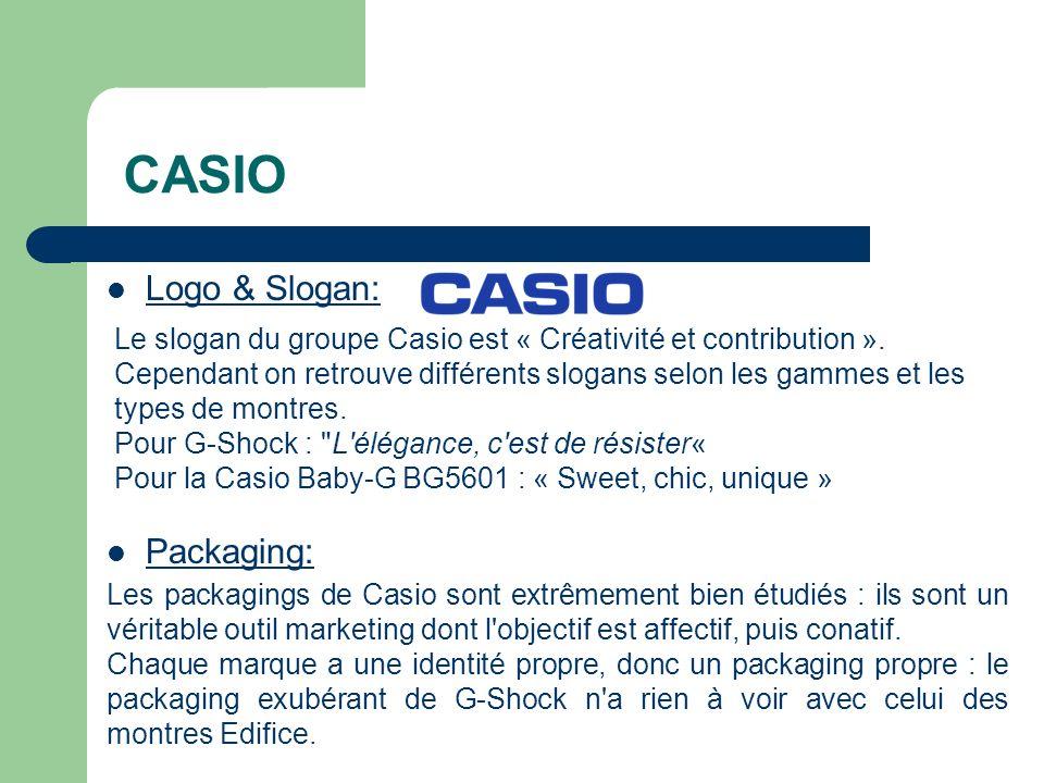 CASIO Logo & Slogan: Packaging: