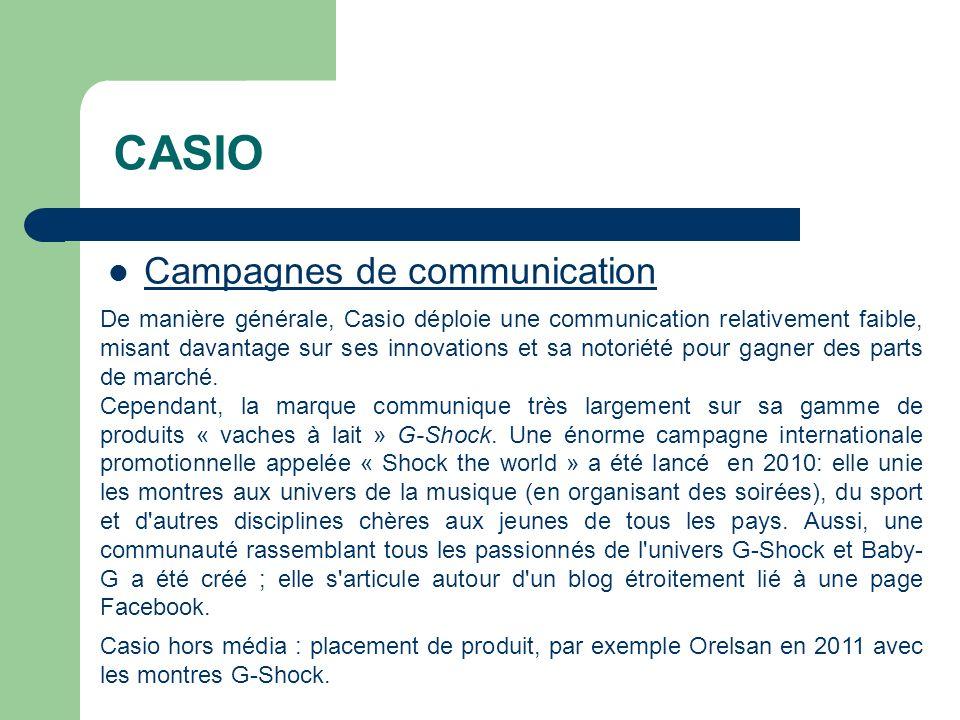 CASIO Campagnes de communication