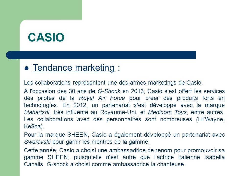 CASIO Tendance marketing :