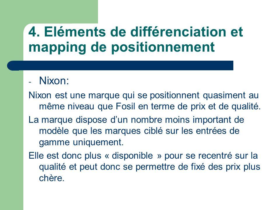 4. Eléments de différenciation et mapping de positionnement
