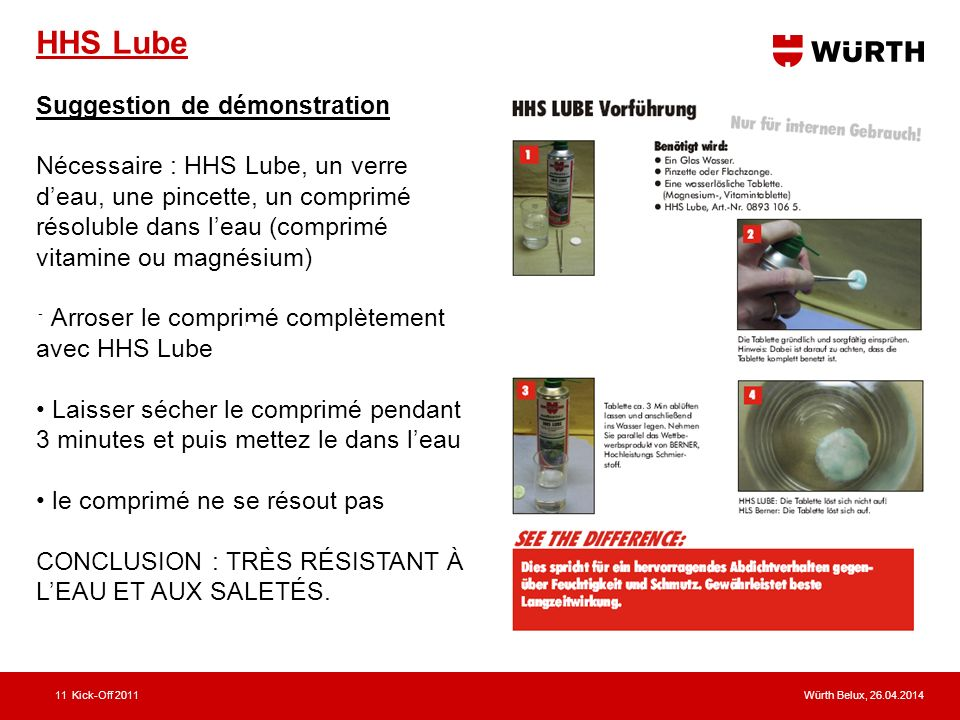 HHS Lube Suggestion de démonstration