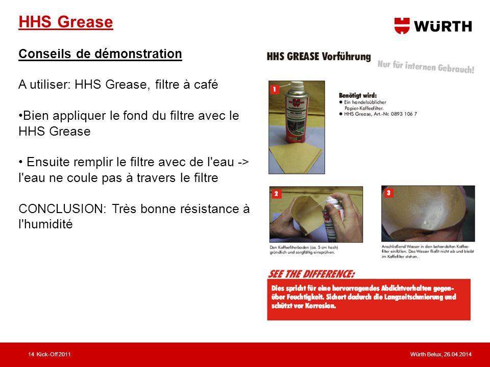 HHS Grease Conseils de démonstration