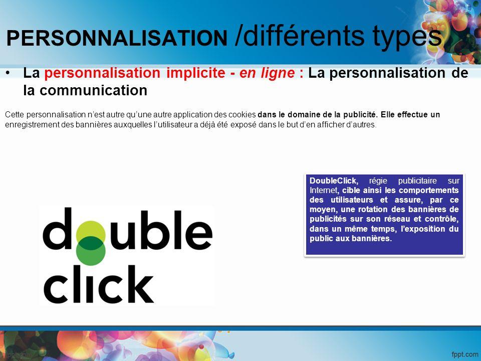 PERSONNALISATION /différents types