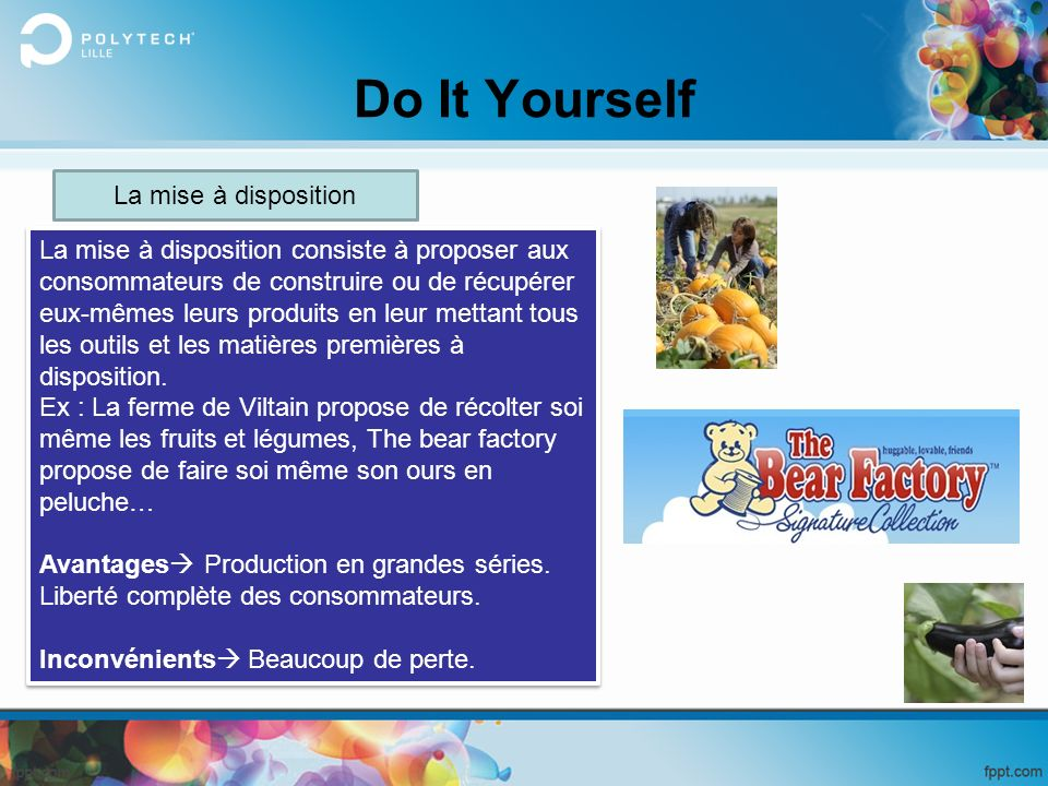 Do It Yourself La mise à disposition