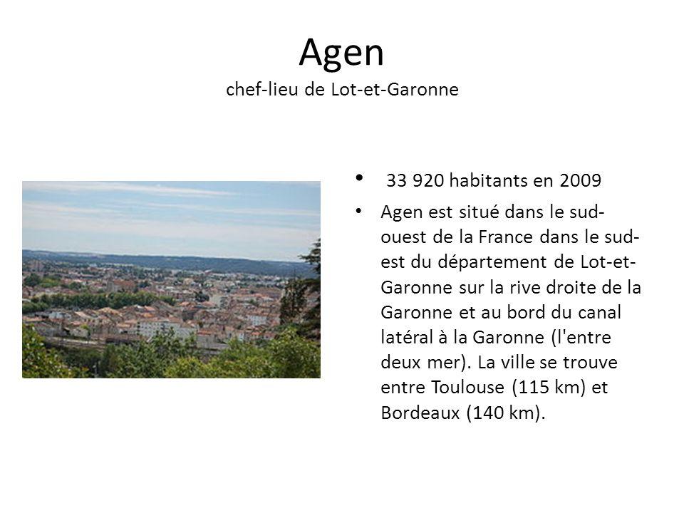 Agen chef-lieu de Lot-et-Garonne
