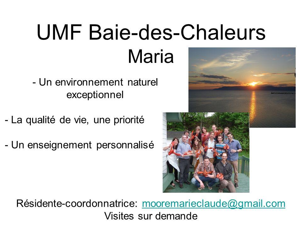UMF Baie-des-Chaleurs Maria