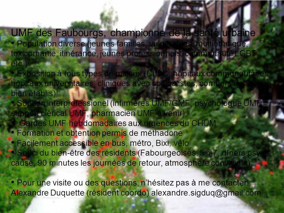 UMF des Faubourgs, championne de la santé urbaine