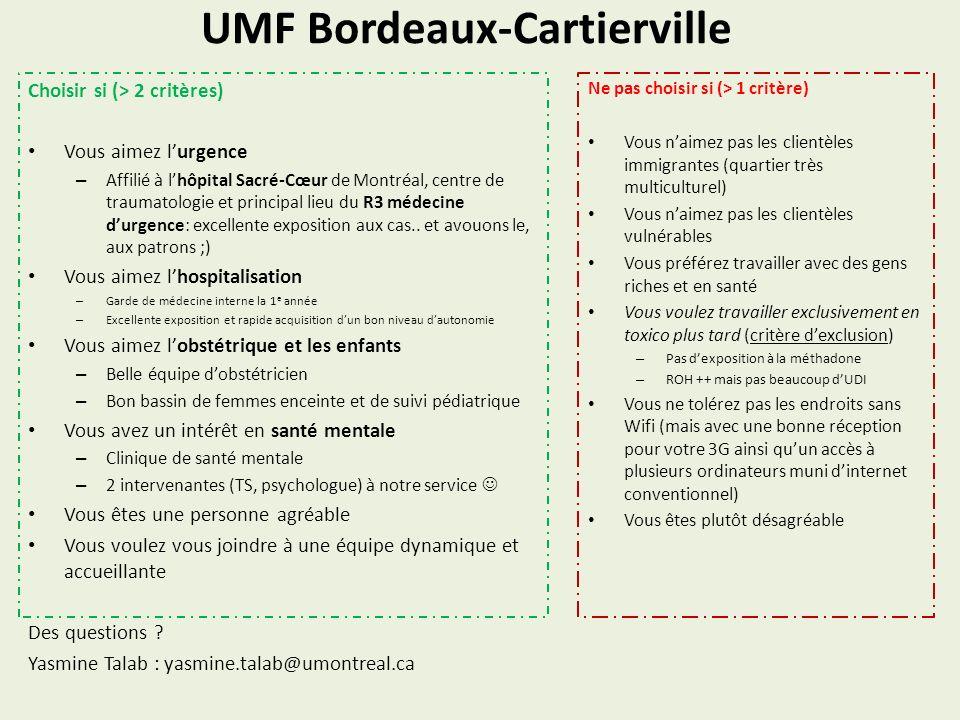 UMF Bordeaux-Cartierville