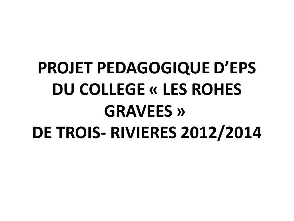 PROJET PEDAGOGIQUE D'EPS DU COLLEGE « LES ROHES GRAVEES » DE TROIS- RIVIERES 2012/2014