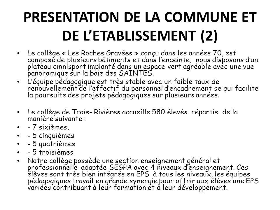 PRESENTATION DE LA COMMUNE ET DE L'ETABLISSEMENT (2)