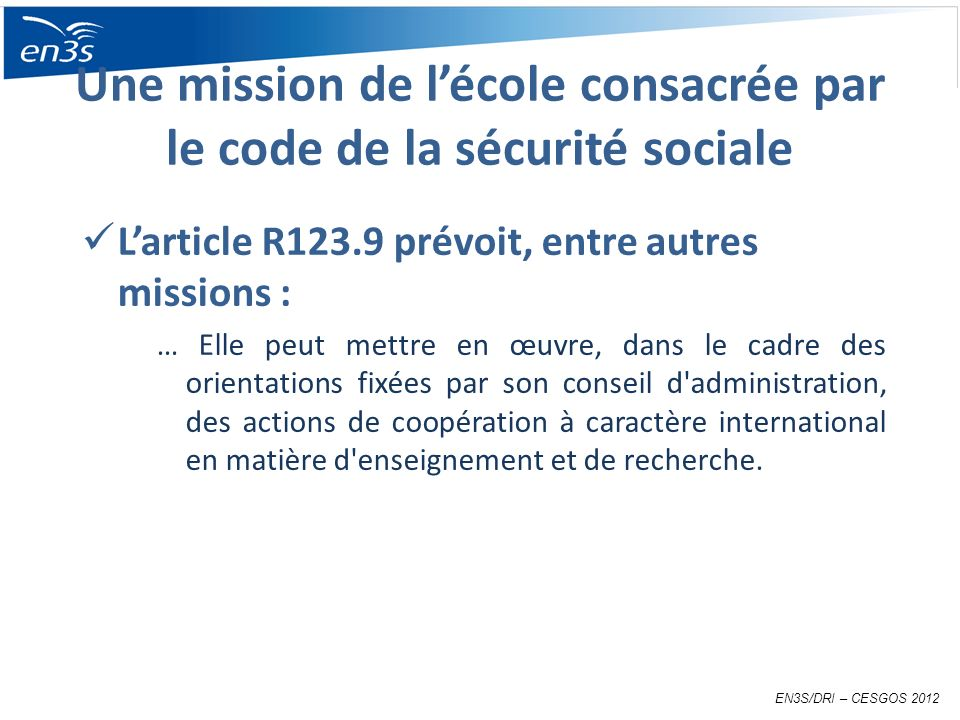 Une mission de l'école consacrée par le code de la sécurité sociale