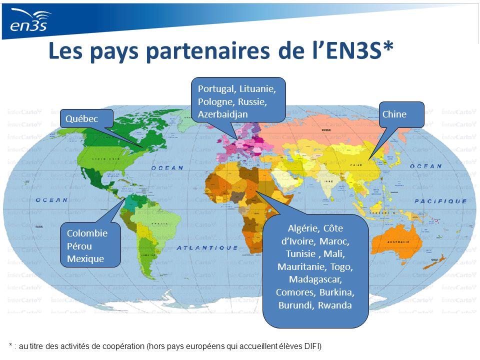 Les pays partenaires de l'EN3S*