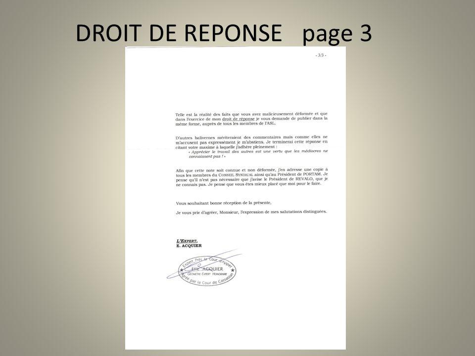 DROIT DE REPONSE page 3