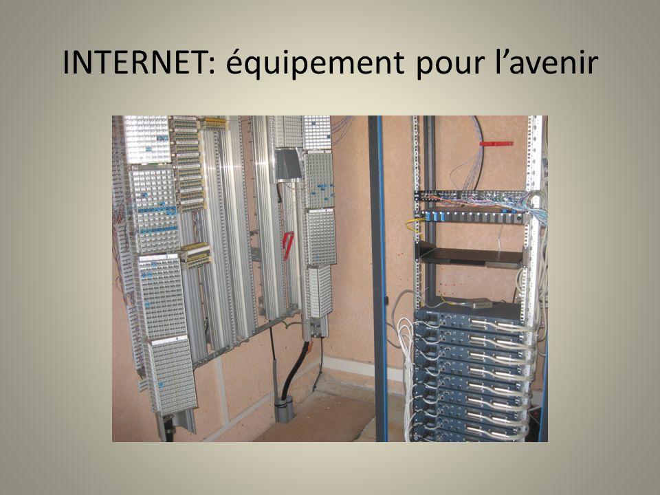 INTERNET: équipement pour l'avenir
