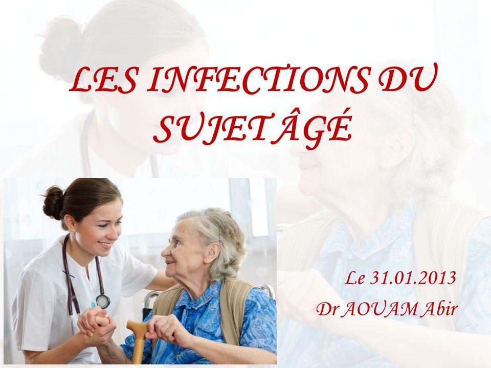 LES INFECTIONS DU SUJET ÂGÉ