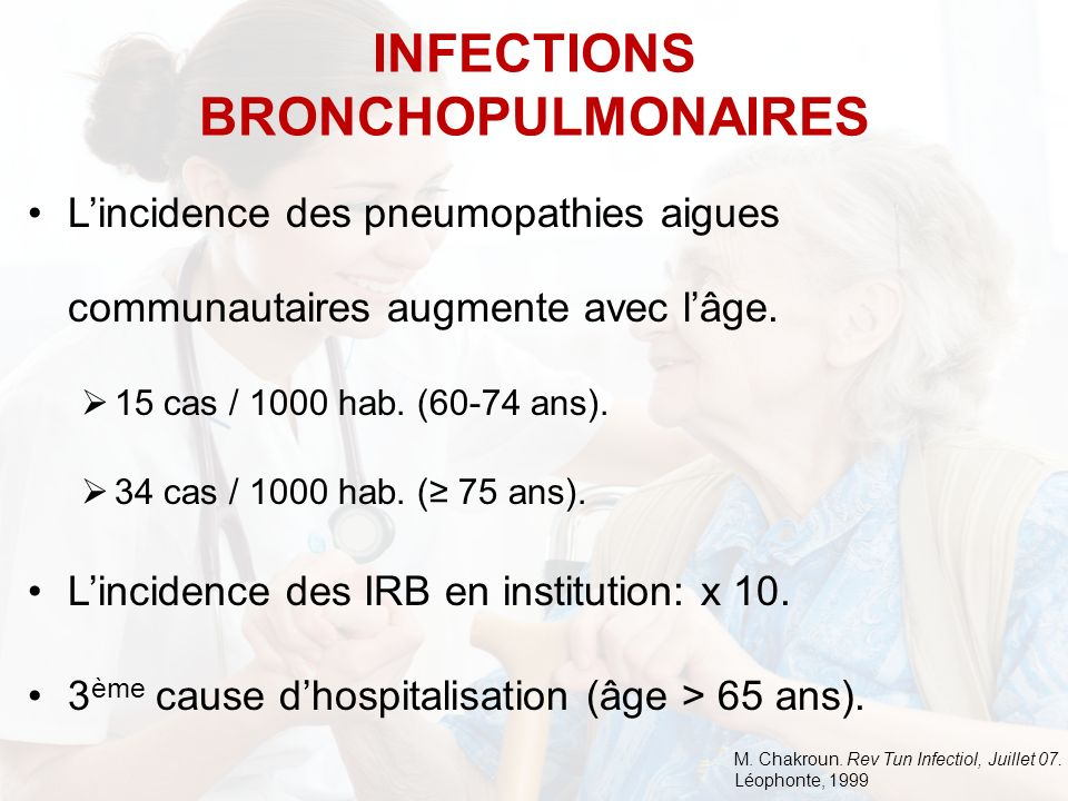 INFECTIONS BRONCHOPULMONAIRES