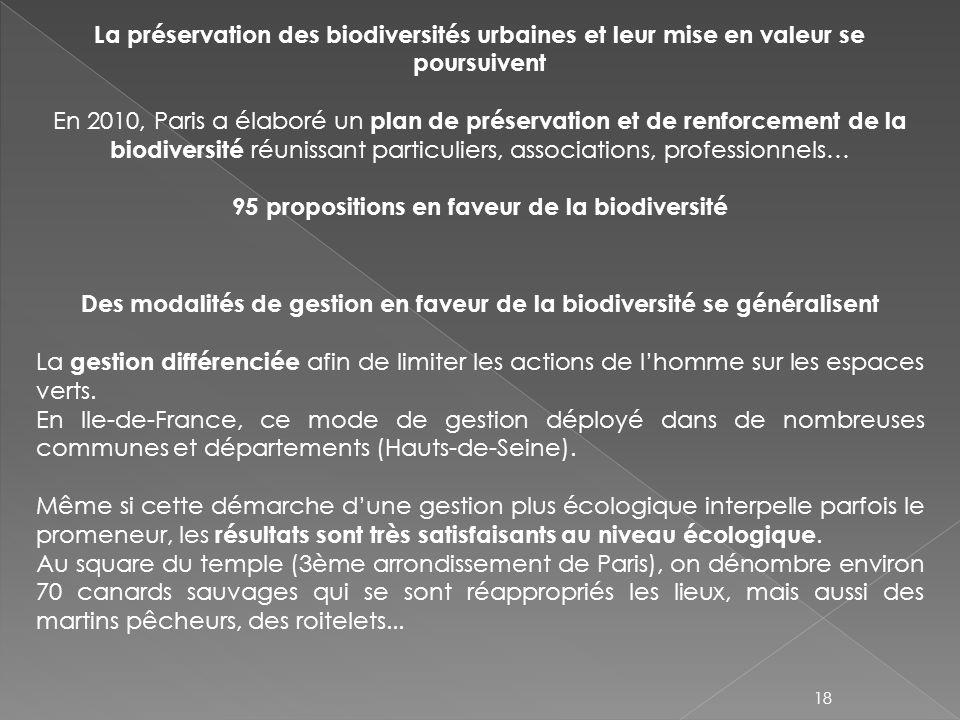 95 propositions en faveur de la biodiversité