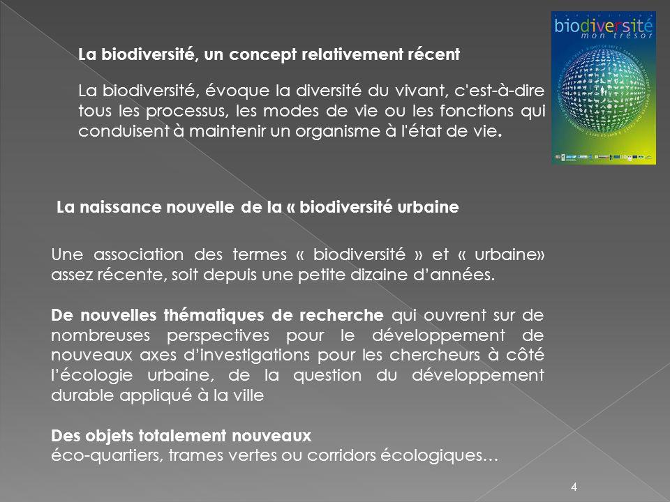 La biodiversité, un concept relativement récent