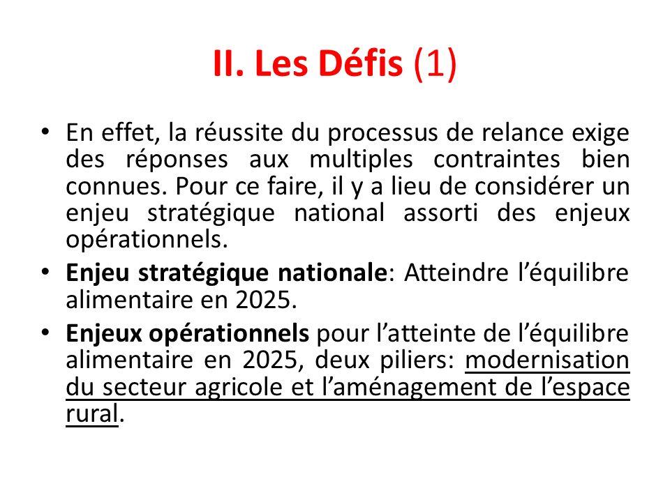 II. Les Défis (1)