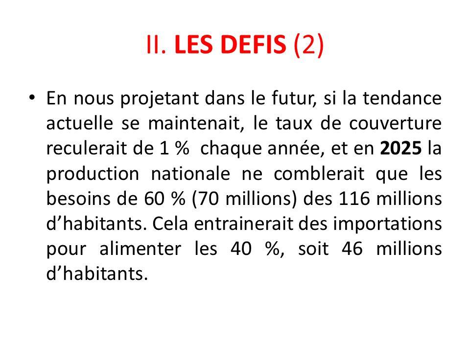 II. LES DEFIS (2)