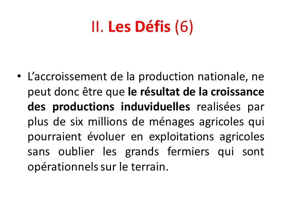 II. Les Défis (6)