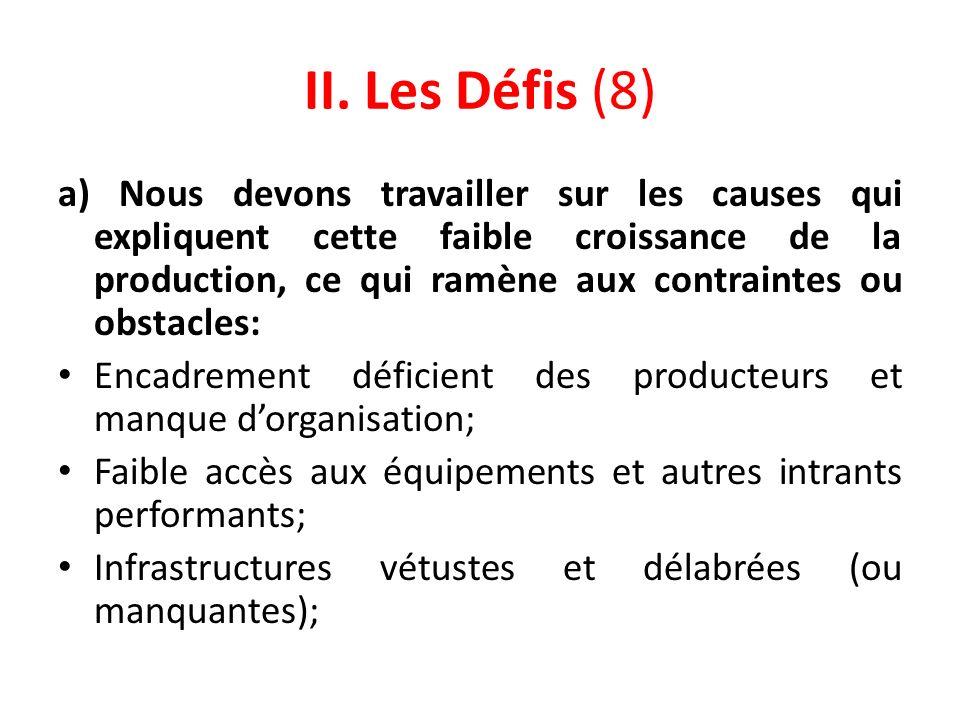 II. Les Défis (8)