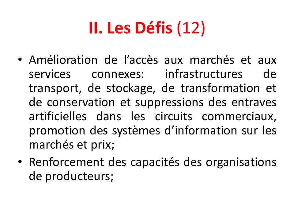 II. Les Défis (12)