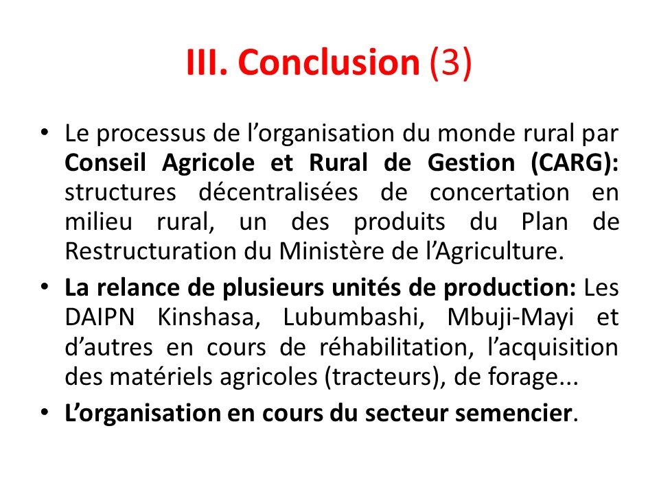III. Conclusion (3)